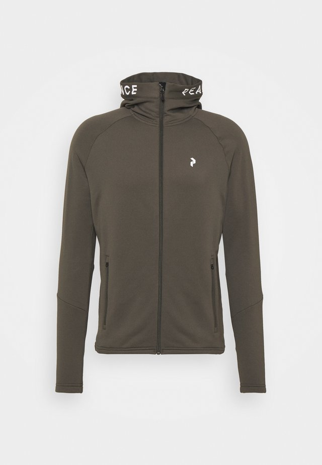 RIDER ZIP HOOD - Fleece jacket - black olive