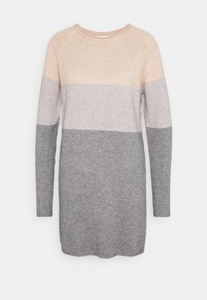 ONLLILLO DRESS - Jumper dress - mahogany rose/light gre