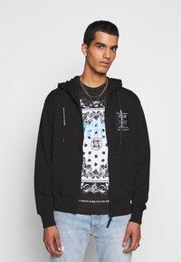 Versace Jeans Couture - FELPA - Zip-up sweatshirt - nero - 0