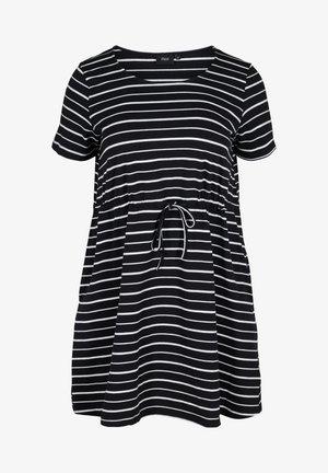 Jersey dress - black/white stripe