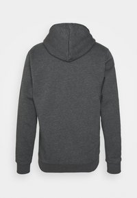 adidas Performance - 3 STRIPES FLEECE FULL ZIP ESSENTIALS SPORTS TRACK JACKET HOODIE - Zip-up sweatshirt - dark grey heather - 7
