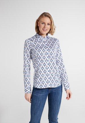 MODERN CLASSIC - Button-down blouse - marine/hellblau/weiss