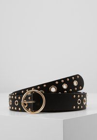 Pieces - PCVINNA JEANS BELT KEY - Pásek - black/gold-colored - 0