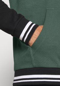 Karl Kani - VARSITY BLOCK HOODIE UNISEX  - Sweatshirt - darkgreen - 4