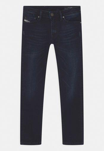 WAYKEE - Straight leg jeans - dark-blue denim