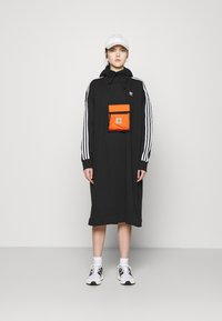 adidas Originals - HOODIE DRESS - Day dress - black - 1