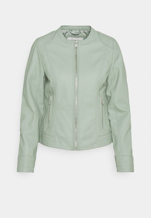ACOM JACKET - Faux leather jacket - iceberg green