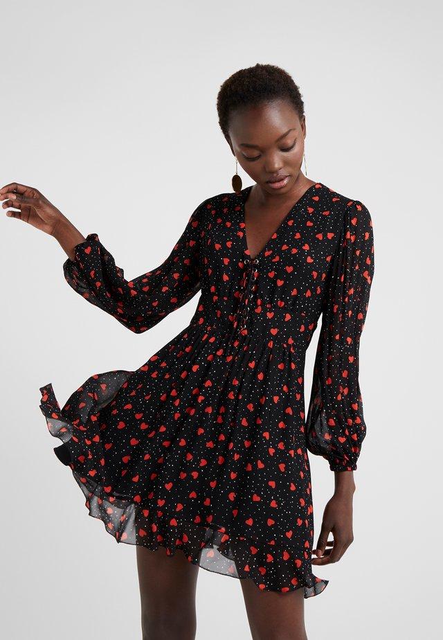 Vestido informal - black - red