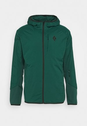 FIRST LIGHT HYBRID HOODY - Soft shell jacket - forest