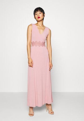 Długa sukienka - pale mauve
