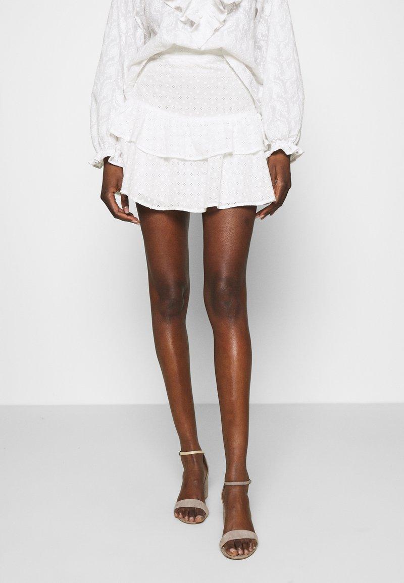 Fabienne Chapot - SERENITY SKIRT - Miniskjørt - cream white