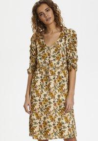 Cream - EMMELIECR  - Day dress - tinsel flowers - 0