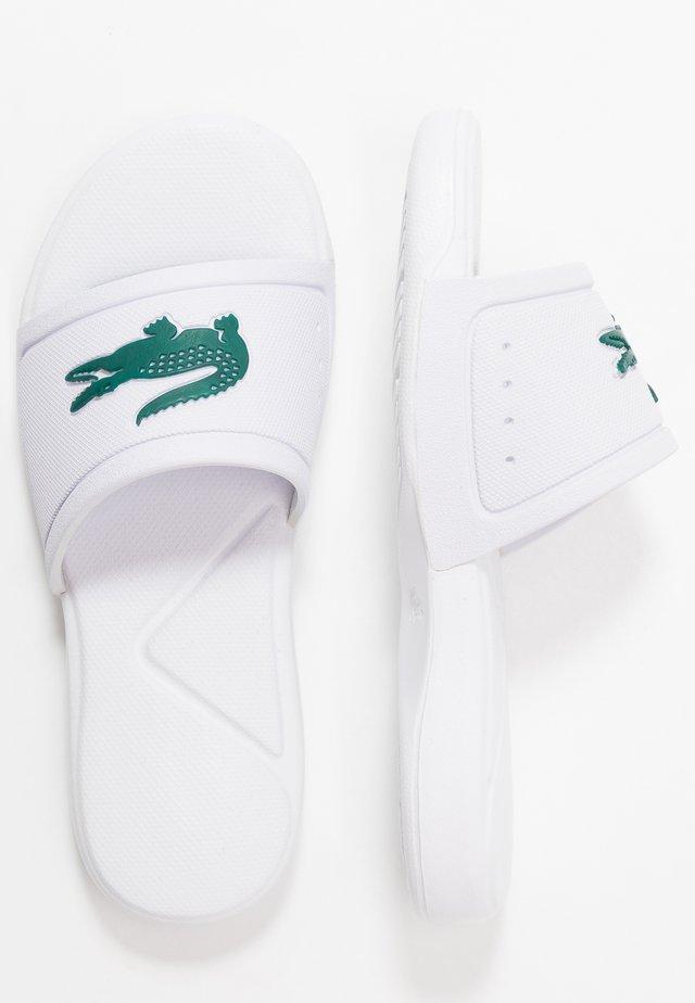 Pool slides - white/green
