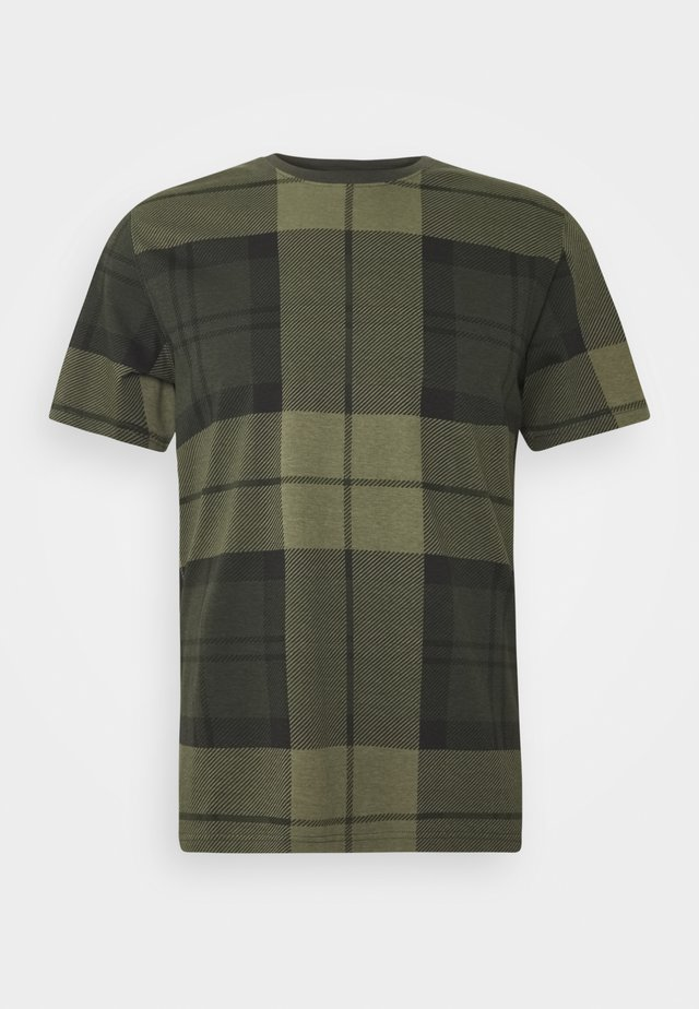 TARTAN TEE - T-shirt con stampa - forest