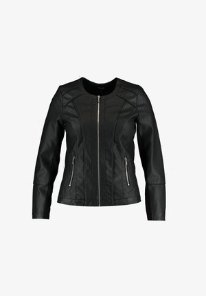 JACK  - Faux leather jacket - black