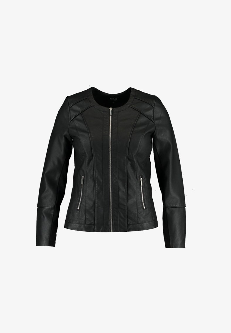 MS Mode - JACK  - Faux leather jacket - black