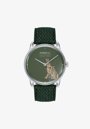 UHR MORRIS & CO SILVER GREEN PERLON 38MM - Ure - green