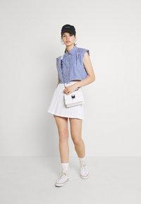 Monki - Button-down blouse - blue - 1