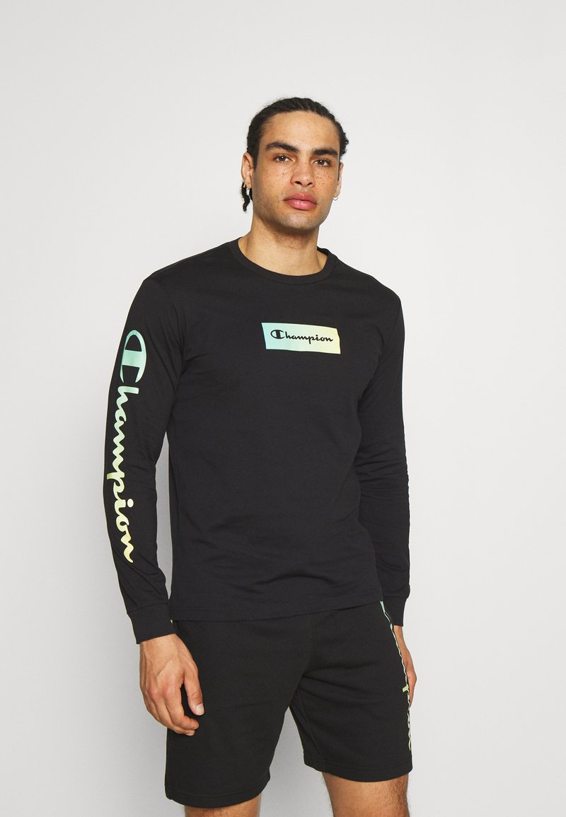 Champion - CREWNECK LONG SLEEVE  - Maglietta a manica lunga - black