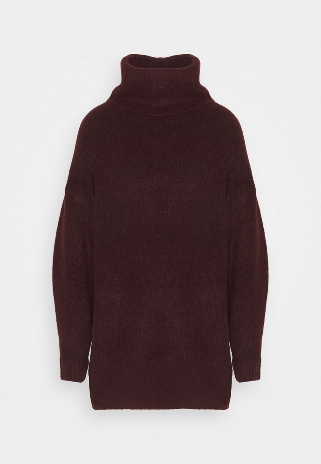 FASH SLOUCHY ROLL NECK - Neule - dark burgundy