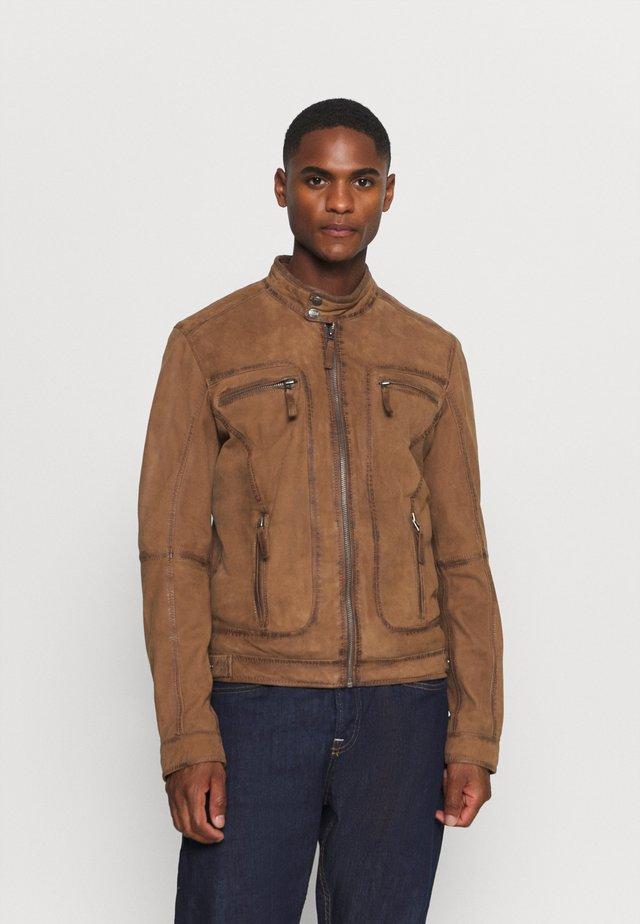 CASTEL - Leather jacket - tabacco