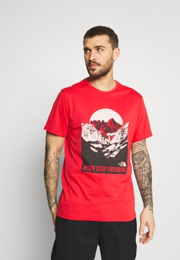 NATURAL WONDERS TEE VINTAGE - T-shirt med print - rococco red