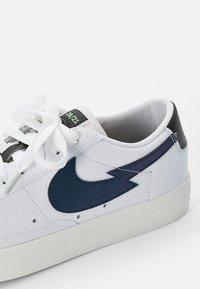 Nike Sportswear - NIKE BLAZER LOW  - Trainers - white/aquamarine-lime glow-off noir-sail - 7