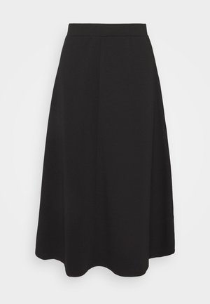 OBJSAVA SKIRT - A-line skirt - black