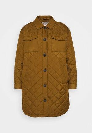 CARTANZIA LONG QUILTED SHACKET - Zimní kabát - breen