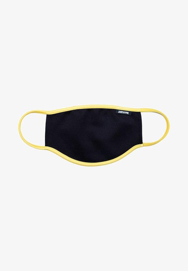 Stoffen mondkapje - black/yellow