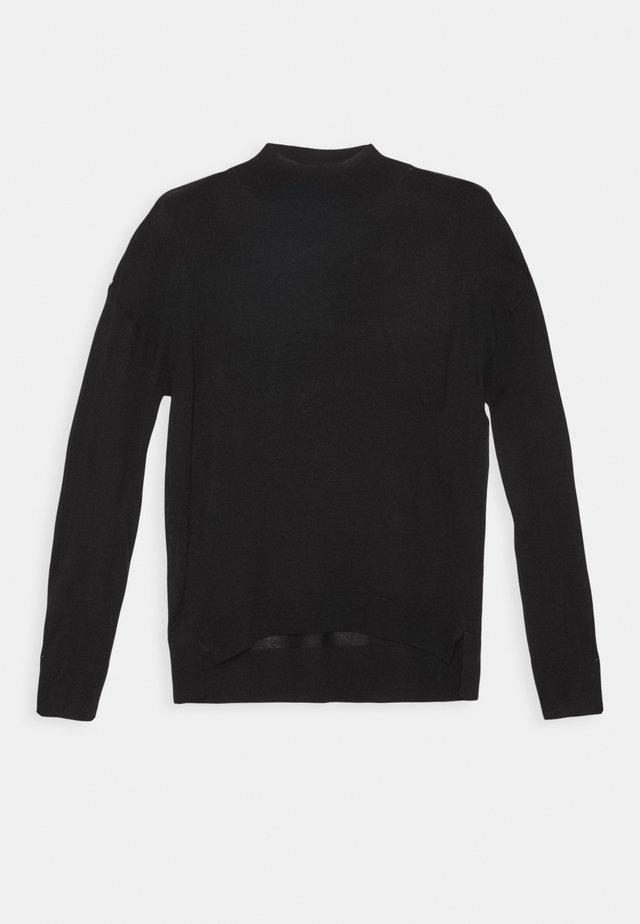 TALL HIGH NECK JUMPER - Pullover - black