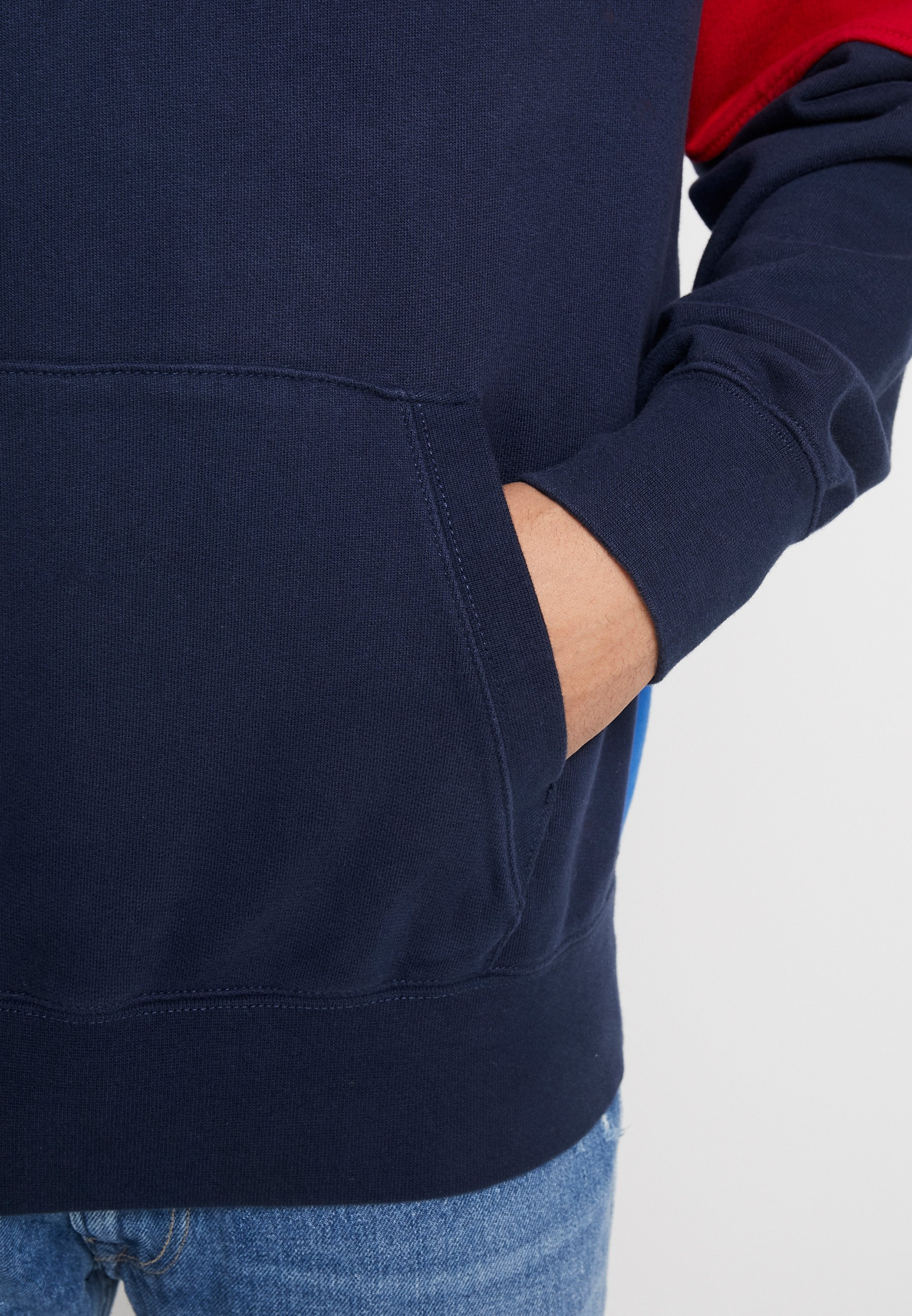 American Eagle PIECED POPOVER HOODIE - Sweat à capuche - navy