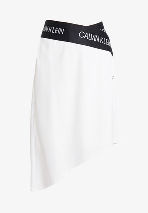ASYMMETRIC SKIRT - Sports skirt - white