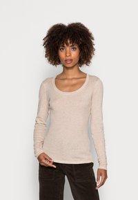 Opus - SORANA  - Long sleeved top - cashmere cream melange - 0