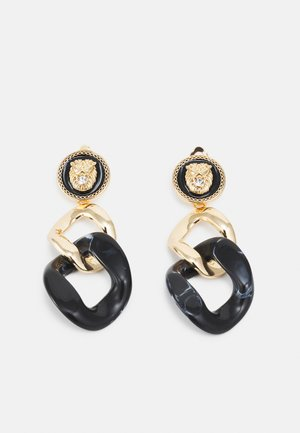 BALLACALLIN - Earrings - black/gold-coloured