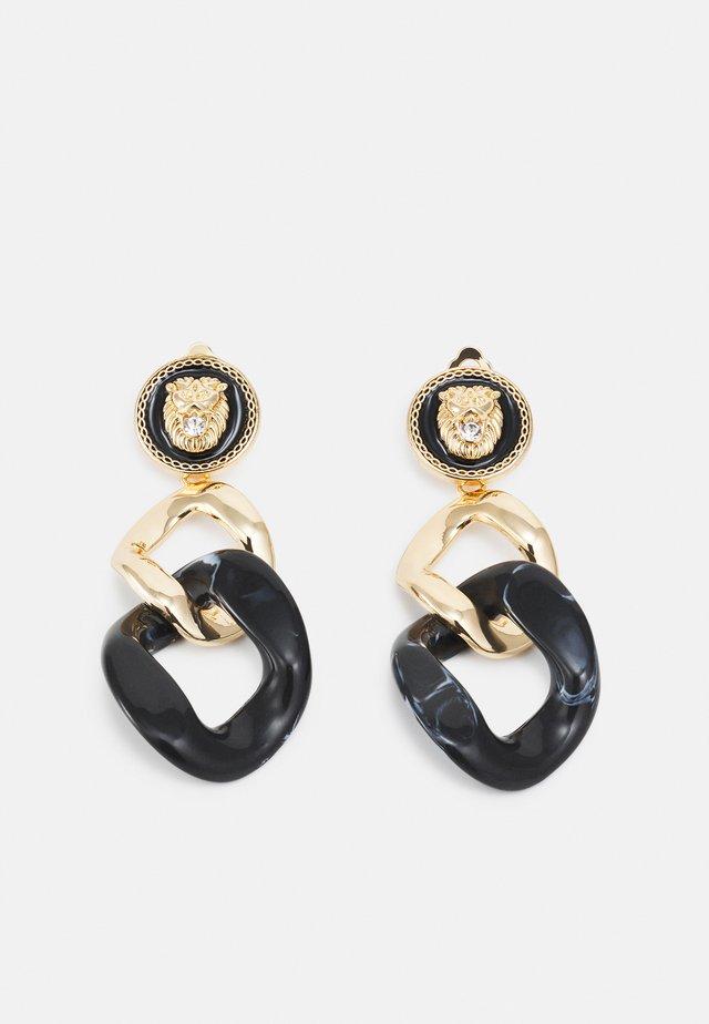 BALLACALLIN - Boucles d'oreilles - black/gold-coloured