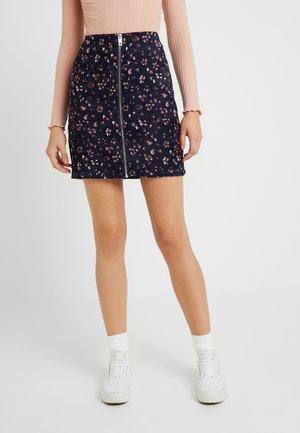 Mini skirt - navy blazer/brick dust