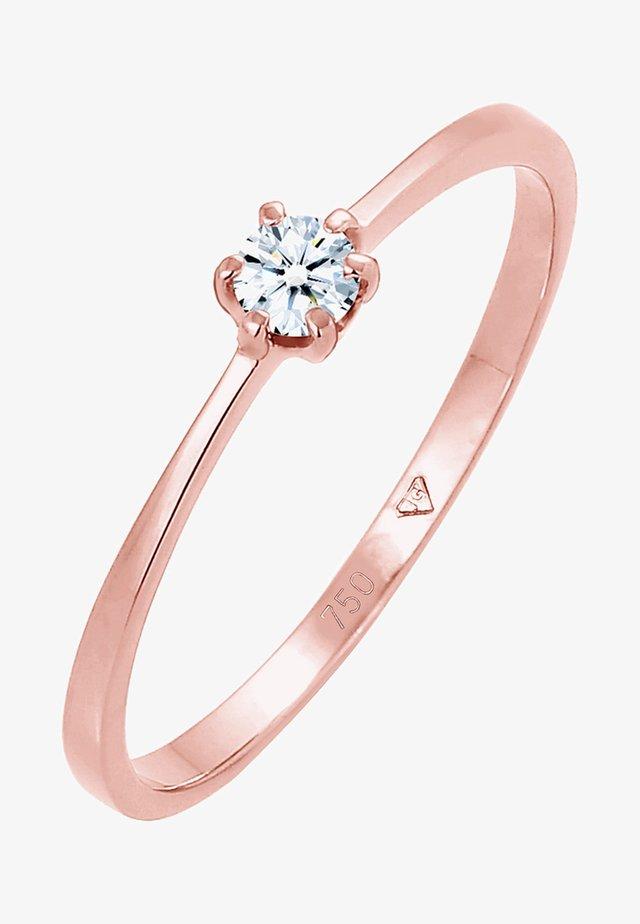 SOLITÄR VERLOBUNG DIAMANT  - Ring - roségold-coloured