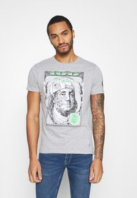 Brave Soul - FRANKLIN - Print T-shirt - light grey marl - 0