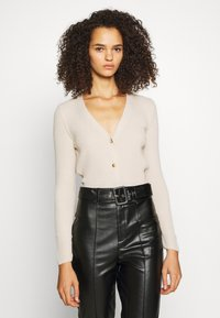 Missguided Tall - SKINNY CROPPED CARDIGAN - Cardigan - beige - 0