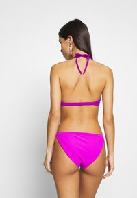 Weekday - FARAWAY RIBBED SWIM TOP - Bikini top - purple - 2
