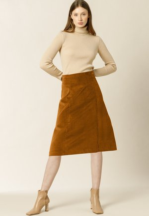 A-line skirt - nutmeg brown