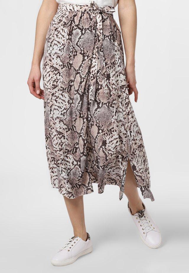 A-line skirt - schoko beige