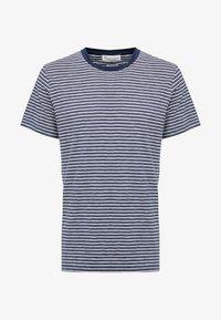THE ORGANIC MULTISTRIPED TEE - T-shirt z nadrukiem - blau