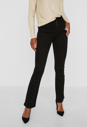 SOPHIE - Flared Jeans - black