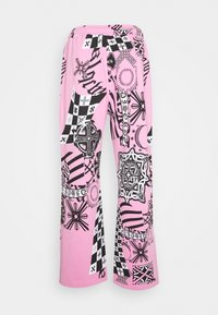 Jaded London - COLLAGE JOGGERS - Tracksuit bottoms - pink - 1