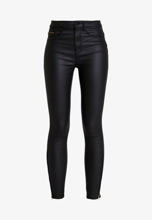 ONLROYAL COATED ANKLE ZIP PANT - Skinny-Farkut - black