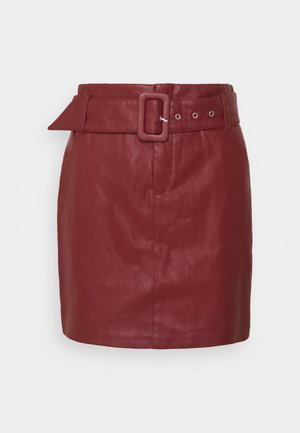 ONLJESSIE SKIRT - Mini skirt - fired brick