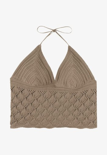MIT TRIANGEL-CUPS - Top - clay brown