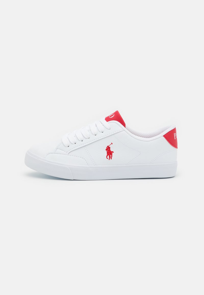 Polo Ralph Lauren - THERON UNISEX - Tenisky - white tumbled/red
